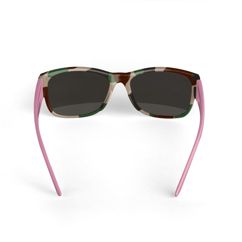 Dollschino London Camo & Baby Pink Sunglasses