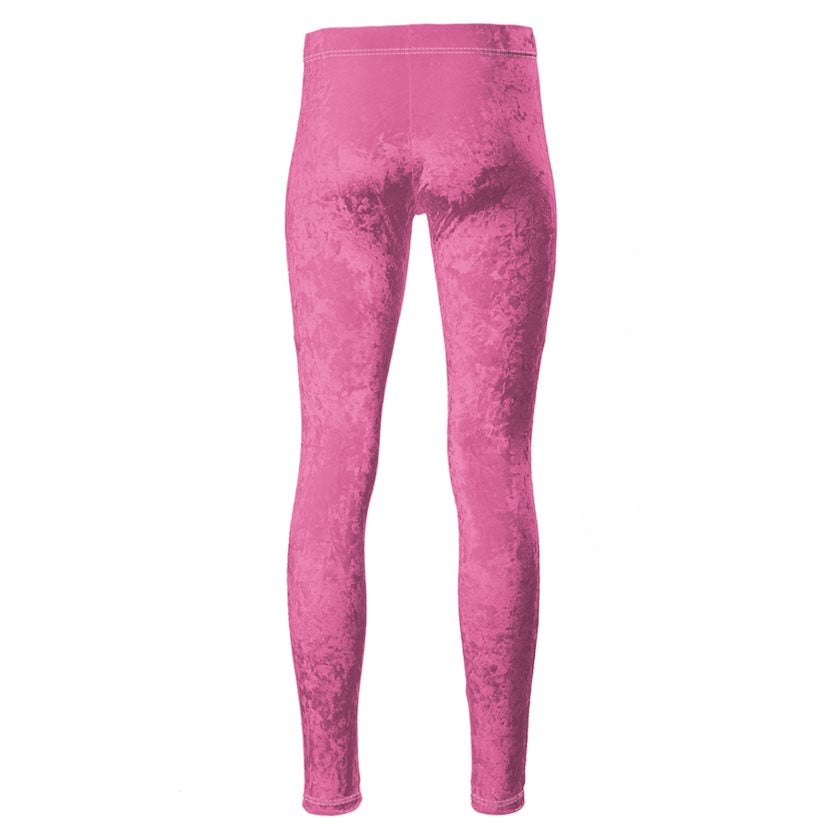 Dollschino London Bubblegum Pink Velour Leggings