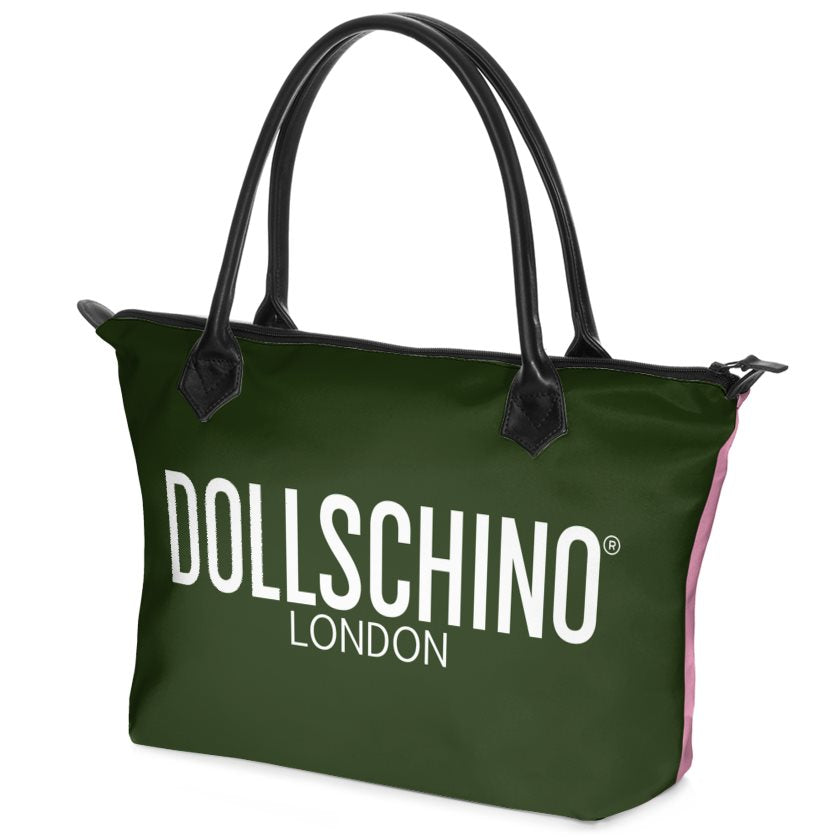 Forest Green & Pink Dollschino London  Handbag