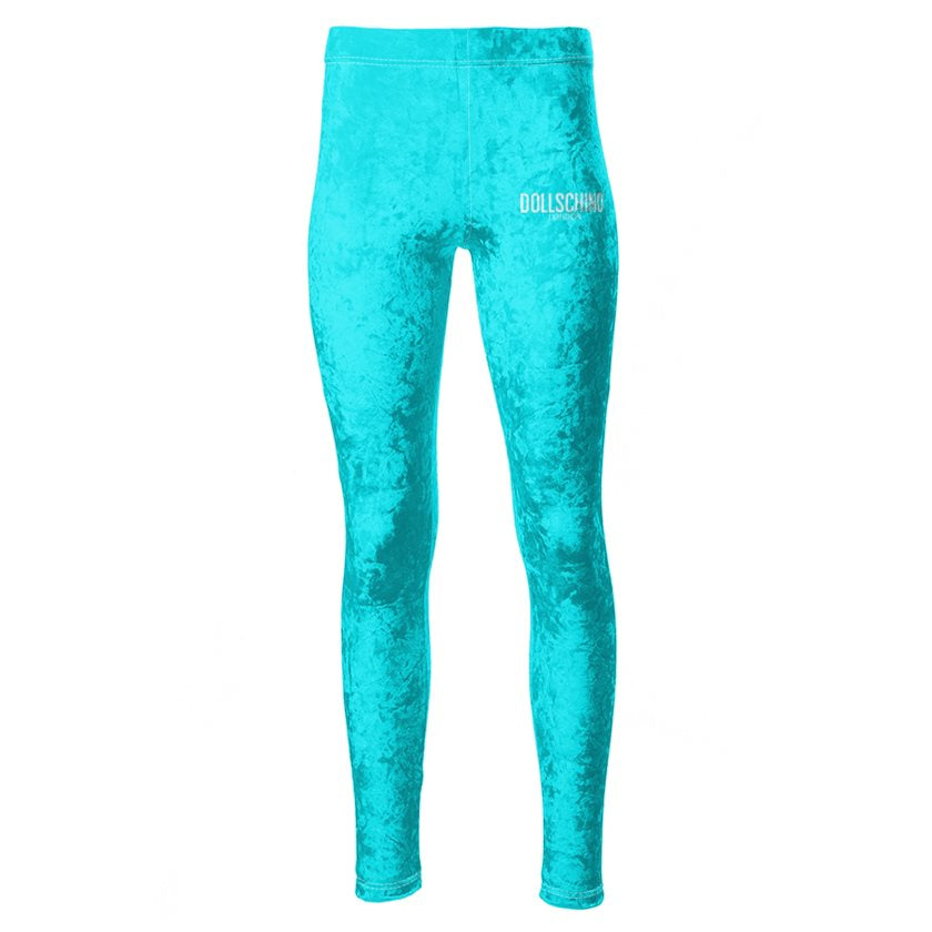 Sky Blue Dollschino London Velour Leggings