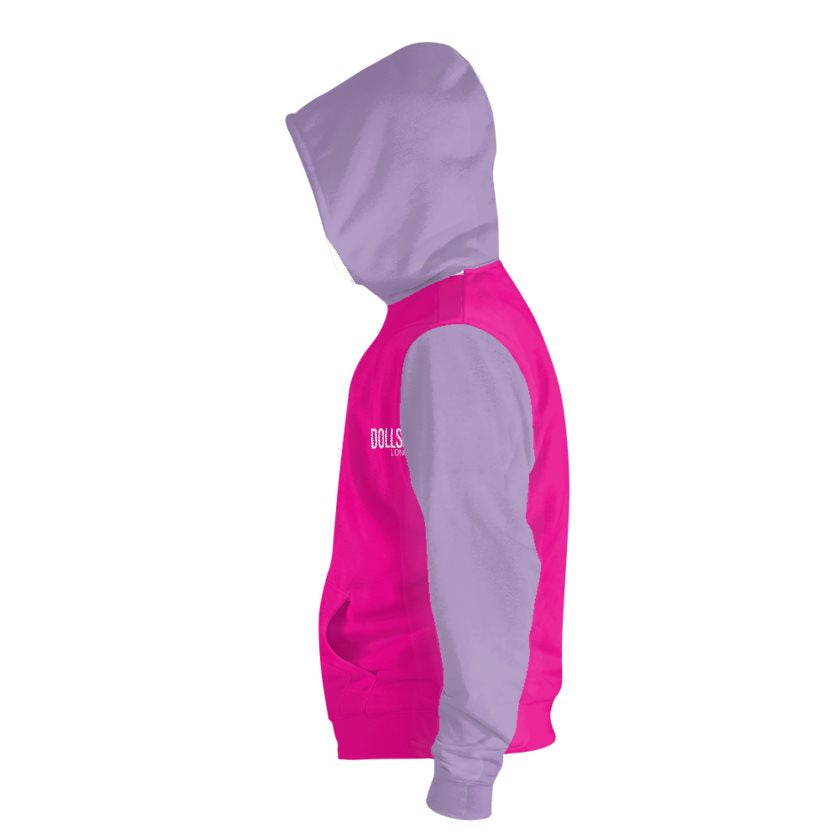 Hot Pink & Purple Zip Hoodie