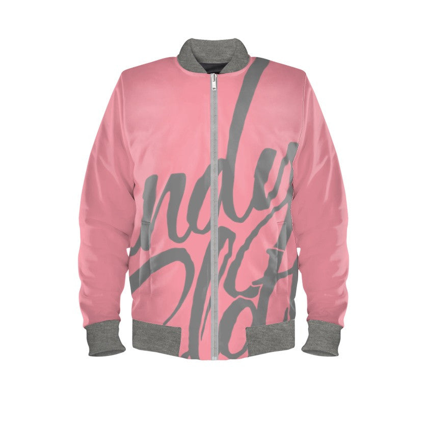 Guava Pink & Comic Pop Art Bomber Jacket