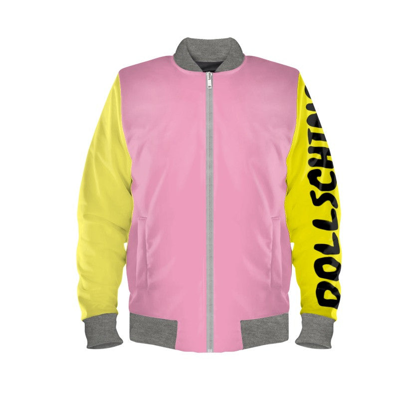 Pink Bubblegum & Lemon Sorbet Pop Art Bomber Jacket