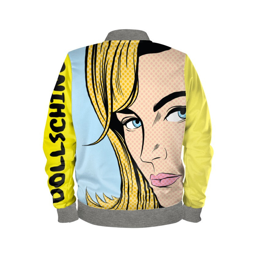 Multi Coloured Pink & Yellow Pop Art Bomber Jacket
