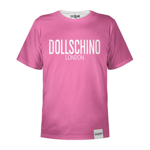 Bubblegum Pink & White Dollschino T-Shirt
