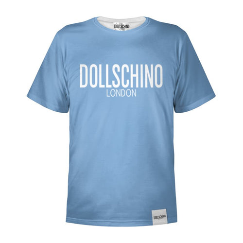 Men's Baby Blue & White Dollschino London T-Shirt