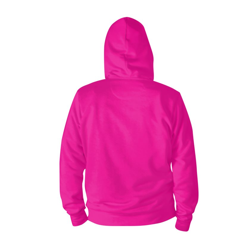 Dollschino London Hot Pink Zip Hoodie