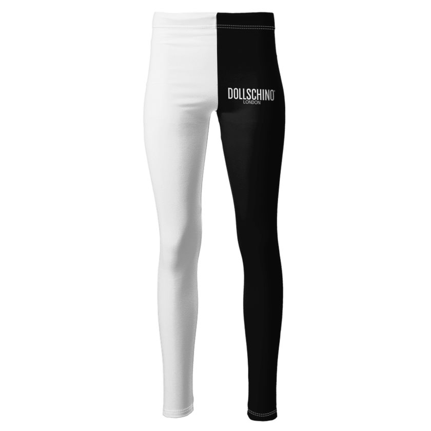 Dollschino London Black & White Ponte Jersey Leggings