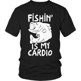 Fishing Is My Cardio Tshirt Black