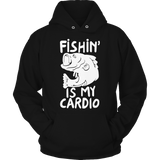 Fishing Is My Cardio Hoodie Black