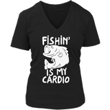 Fishing Is My Cardio V-neck Black