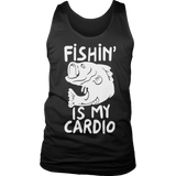 Fishing Is My Cardio Tank Black