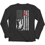 Duck Hunter and American Flag - Long Sleeve