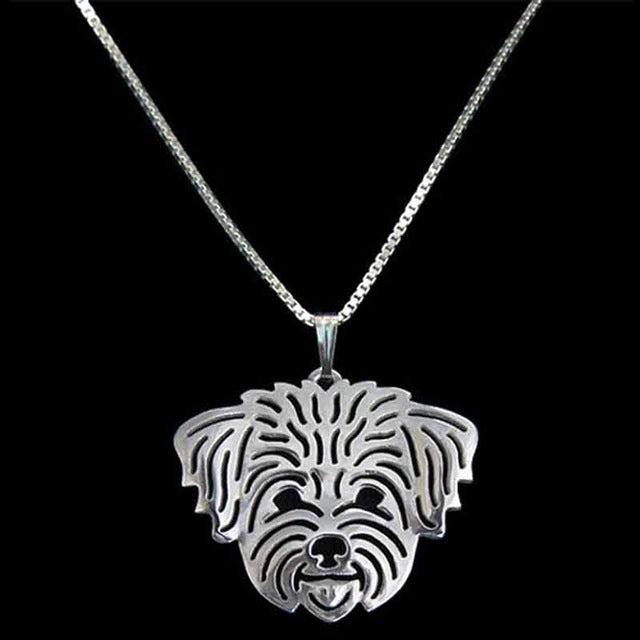 Cute Maltese Dog Pendant Necklaces Charm