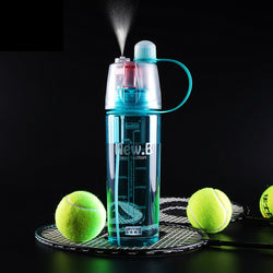 600ML Plastic Sports Spray Water Bottle with Straw - SookSook