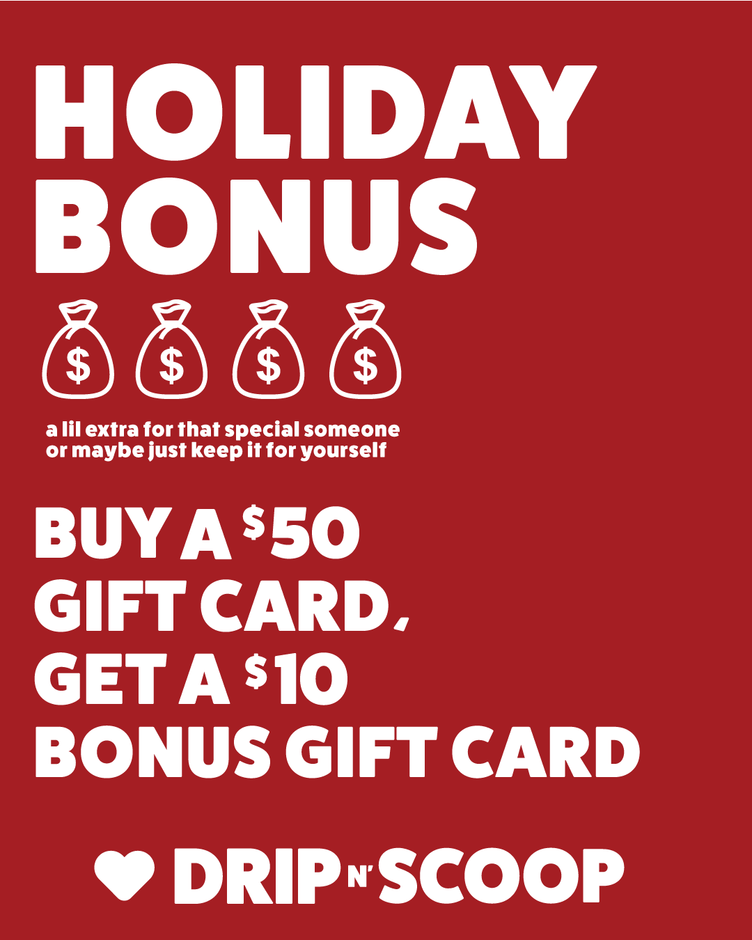 Logo Giftcard + Holiday Bonus