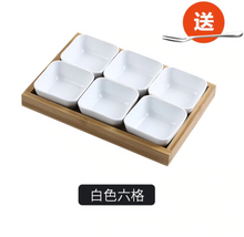 Load image into Gallery viewer, Small ceramic bowls with serving platter tray
