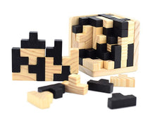 Load image into Gallery viewer, Classic 3D cube wooden puzzle
