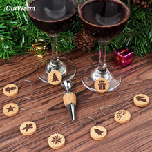Load image into Gallery viewer, Cork wine glass charms
