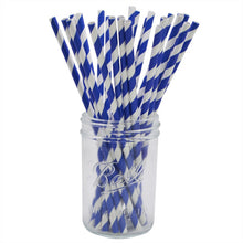 Load image into Gallery viewer, Stripe or polka dot paper straws (pack of 25)