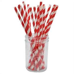 Stripe or polka dot paper straws (pack of 25)