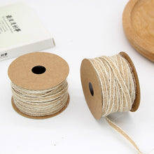 Roll of jute burlap hessian ribbon (10 m)