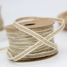 Load image into Gallery viewer, Roll of jute burlap hessian ribbon (10 m)