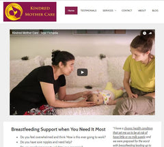 Kindred Mother Care Website Preview