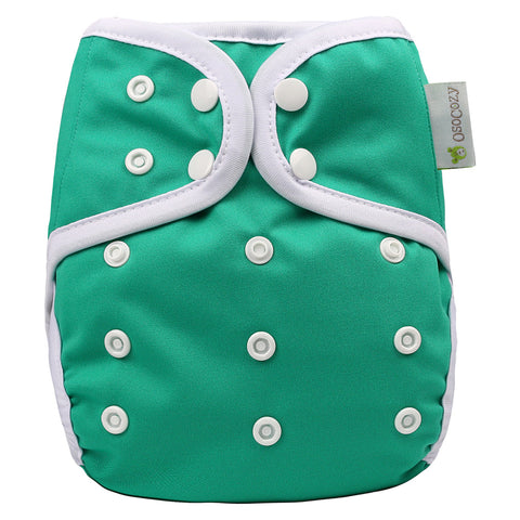OsoCozy One Size Diaper Cover - Green