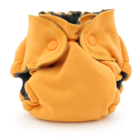 Ecoposh OBV Newborn Fitted Cloth Diaper - Saffron