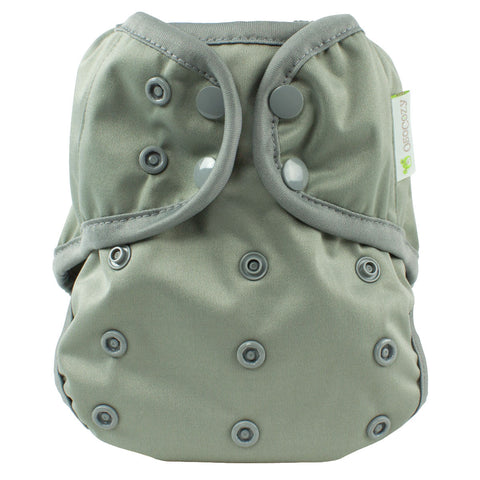 OsoCozy One Size Diaper Cover - Pewter