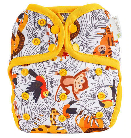 OsoCozy One Size Diaper Cover - Zoo Day