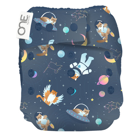 GroVia O.N.E. Cloth Diaper All Good Cats Go To Space
