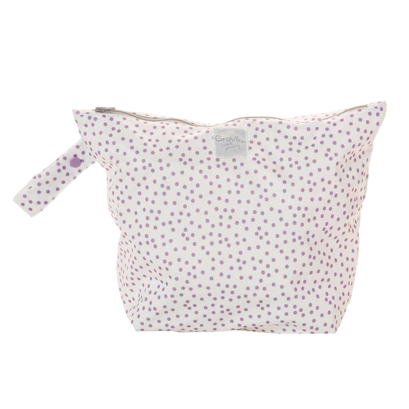 GroVia Zippered Wetbag Violet Dot