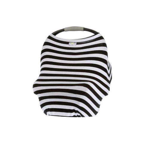 Mom Boss 4-in-1 Multi-Use Cover - Black & White Stripe