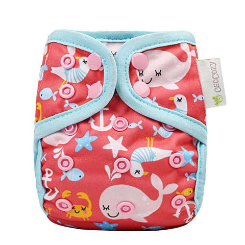 OsoCozy Newborn Diaper Cover - Sea Life