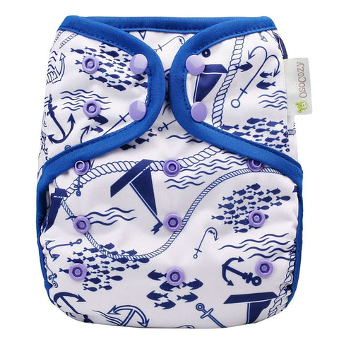 OsoCozy One Size Diaper Cover - Maritime