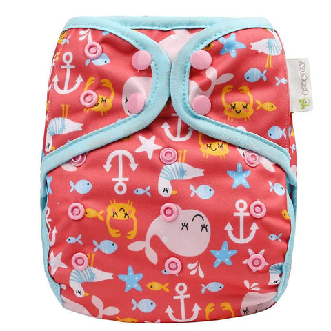 OsoCozy One Size Diaper Cover - Sea Life