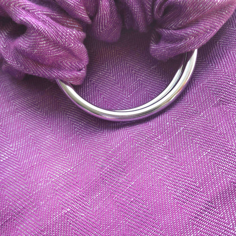 Studio Tekhni Woven Ring Sling Berry with Shiny Silver