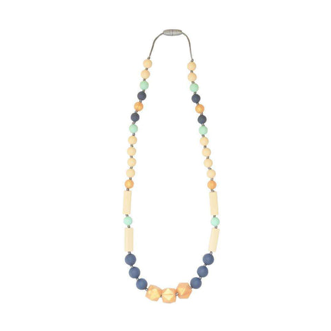 Teething Full Strand Necklace Slate Gold