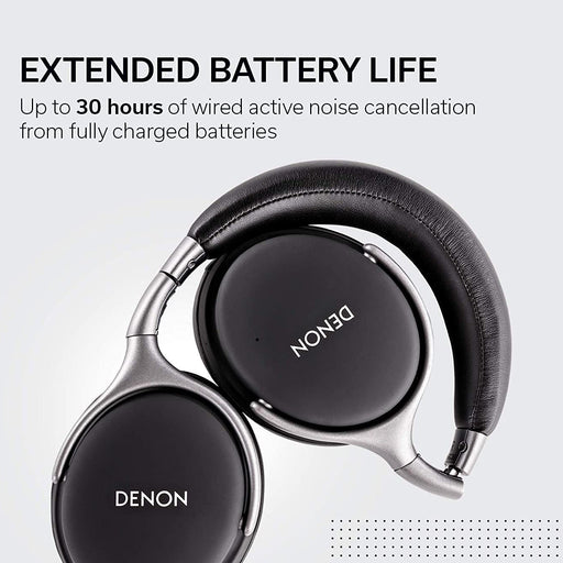 Denon Black Noise Cancelling Over-Ear Headphones - AH-GC25NCBK