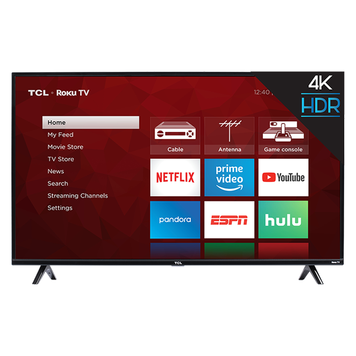 TCL 65-Inch Class 4K ULTRA HD Roku Smart LED TV - 65S425