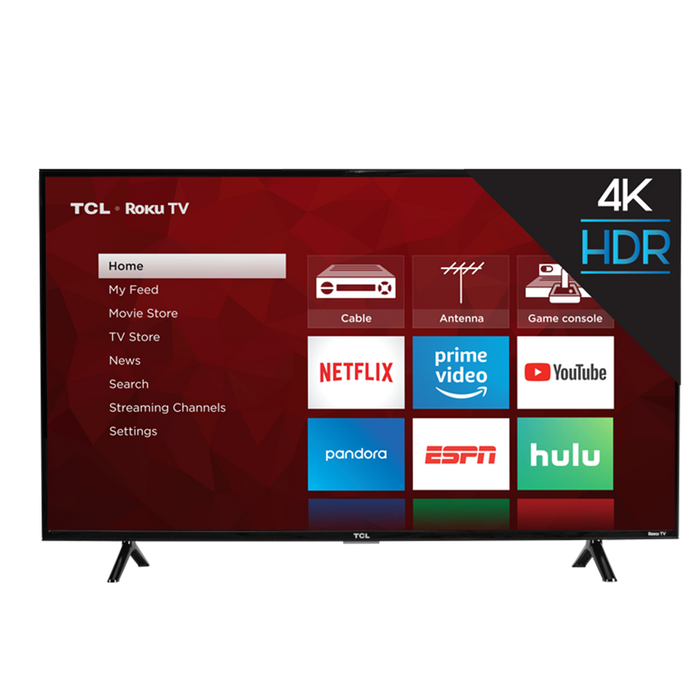 TCL 43-Inch Class 4 SERIES 4K UHD Roku Smart TV - 43S403