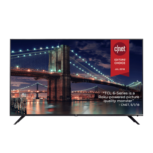 TCL 55 Inch CLASS  6-SERIES 4K UHD DOLBY VISION HDR ROKU SMART TV (55R615)