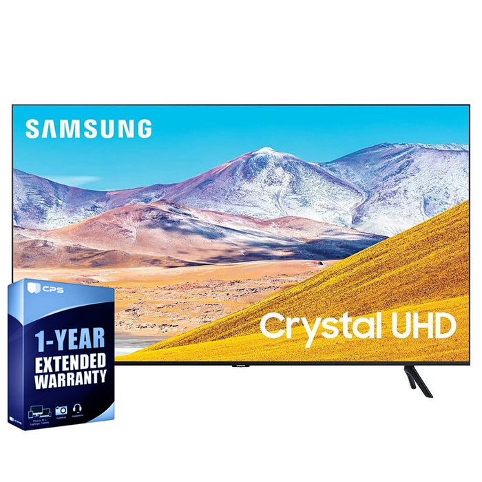 Samsung 65 Inch 4K Led Tizen Smart TV, Bundle with 1 Year Extended Warranty  - UN65TU8000FXZA