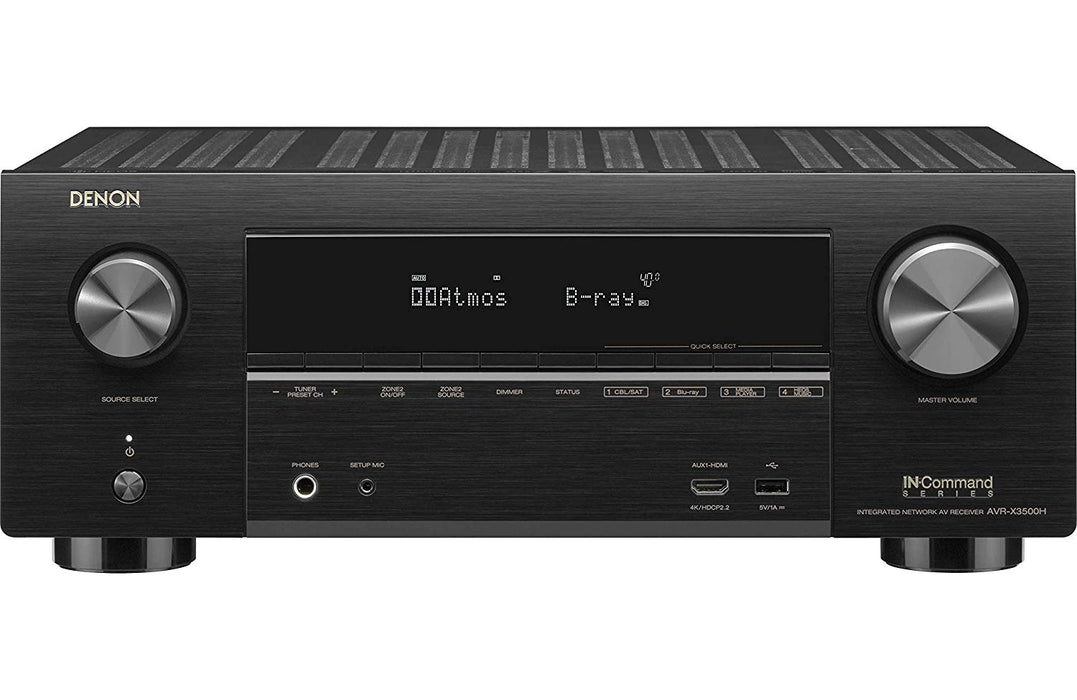 Denon AV Receivers Audio & Video Component Receiver Black (AVR-X3500H)