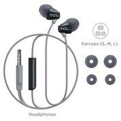 TCL Black In-Ear Headphones with Mic - SOCL100BK