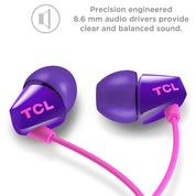 TCL Sunrise Purple In-Ear Headphone with Mic - SOCL100PP