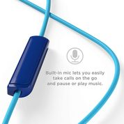 TCL Ocean Blue In-Ear Headphones with Mic - SOCL100BL