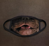 Dog Face French Bulldog Real Face Mask